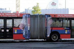 Anuncios creativos en autobuses