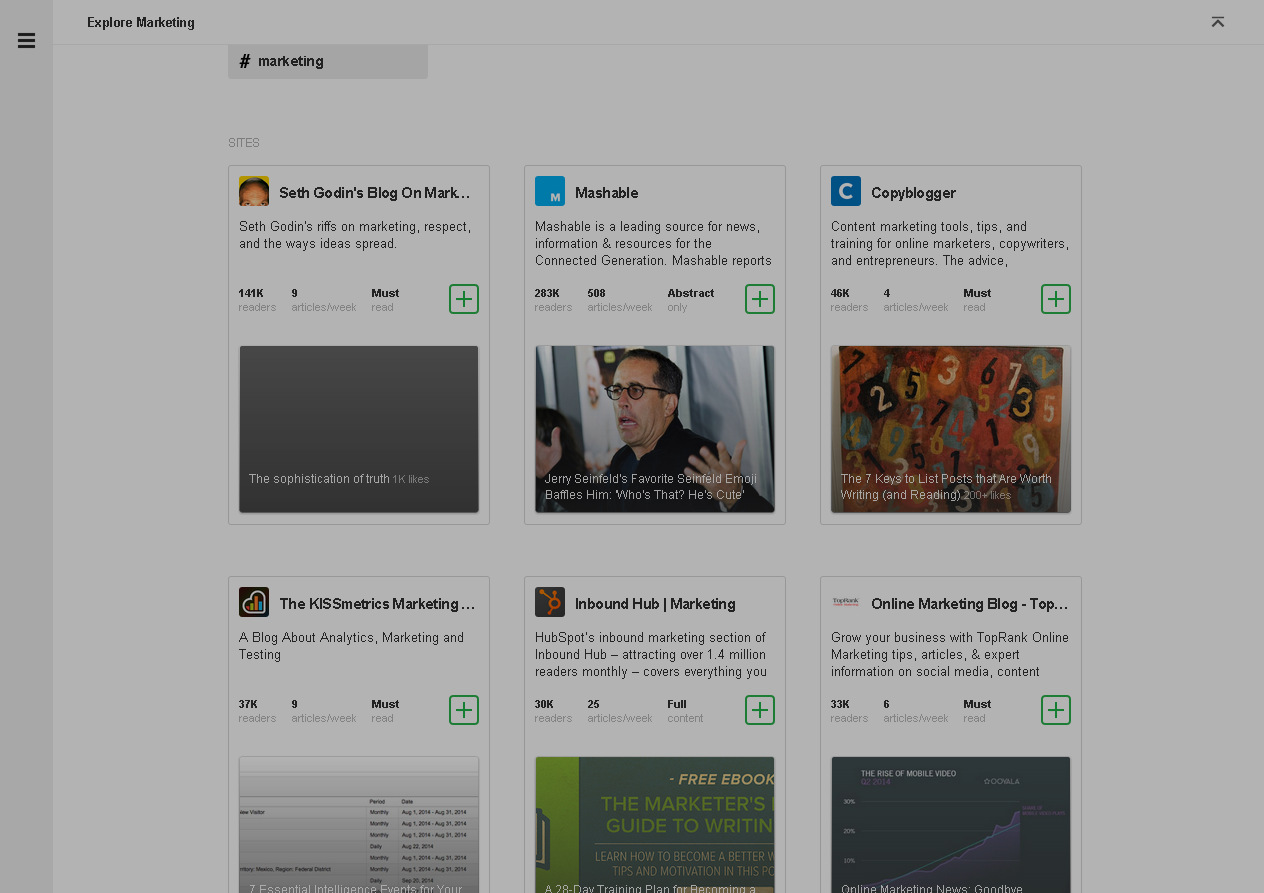 Feedly marketing